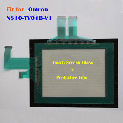 for Omron NS10-TV01B-V1, NS10TV01BV1 Touch Screen Glass + Protective Film New