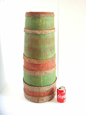 "1800's  Huge & Heavy Antique Primitive Wood Butter Churn Barrel ~ 25+""/ 18 lbs"