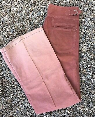 Vintage 70's Ombre Pink Cotton High Waisted BELL BOTTOM jeans Women Size 28