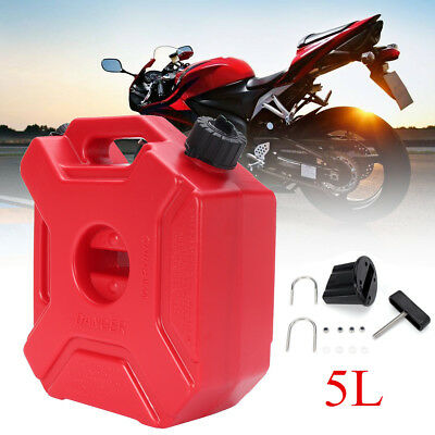 5L Portable Jerry Can Gas Plastic Fuel Tank Petrol ATV UTV Motorcycle Car Gokart