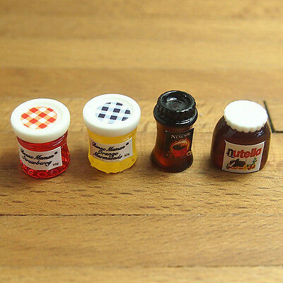1Pc Dollhouse Miniature 1:12 Kitchen Food Coffee Jam Condiment DIY