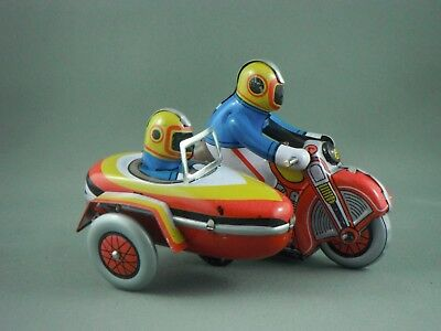 Tin Toy - Small Motor-Cycle with Sidecar - Wind Up