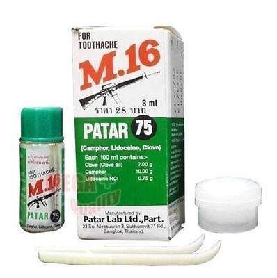 M.16 FOR TOOTHACHE First Aid Tooth Kit Oral Anesthetic Pain Relief Clove Oil 3ml