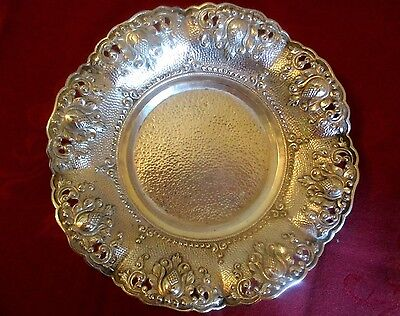 Dutch East Indies Silver Handcrafted Colonial Yogya Djokja Bowl Dish 208 g appx