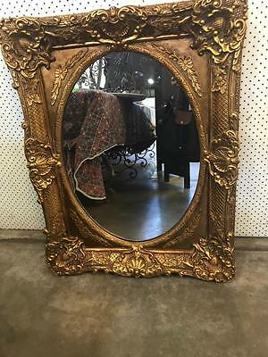 Gorgeous French Style Ornately Carved Gilt Framed Wall Mirror  94 X 74 Cm