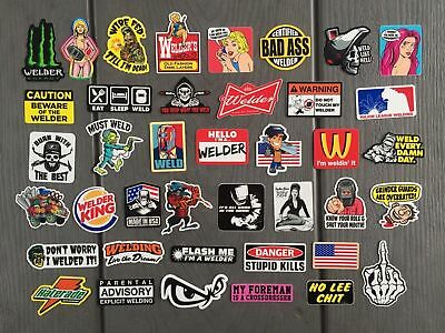 WELDER (40) Hard Hat Stickers HardHat Sticker & Decals, Helmet, Lunch & Tool Box
