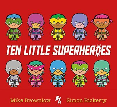 Ten Little Superheroes by Mike Brownlow New Paperback Book
