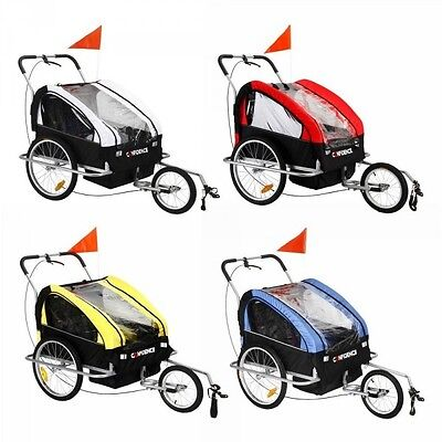 Confidence 2 in 1 Baby Bike Trailer Stroller Jogger with Suspension