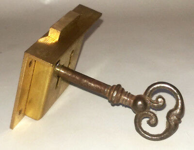 Brass Lock And Key A & E Squires Cabinet Wardrobe Furniture
