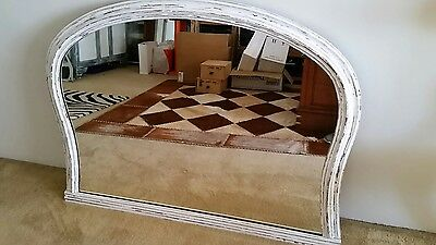 Large and Heavy Mantle Style Shabby Chic Antique Wall Mirror