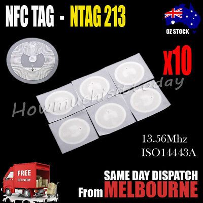 10x NFC TAG Sticker NTAG 213 Universal Label RFID Tag for Android NFC phones