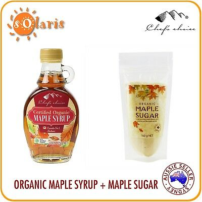 Chef's Choice Certified Organic Maple Syrup 250g + Organic Maple Sugar 150g