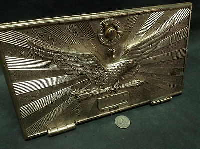 Large Eagle Post Office Door vintage brass and bronze