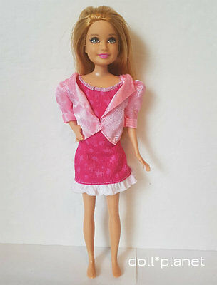 "STACIE DOLL  Barbie Sister 9"" dressed pink dress strawberry-blonde  green eyes"
