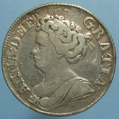 1711 Queen Anne Shilling - Third Bust in Fine + Condition