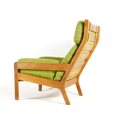 Retro Vintage Danish Oak & Wool Easy Lounge Chair Armchair Modern 50s 60s 70s
