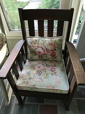 Stickley Brothers Furniture Antique Rocking Chair Mission Style Oak