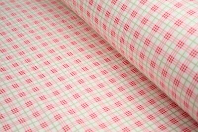 "Checked100% cotton fabric sold by the meter 63"" /160cm  width 1709013"