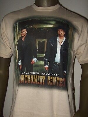 Nwt Mens Montgomery Gentry Troy Back When I Knew It All Country Music Band Shirt