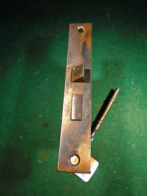 "VINTAGE JAPANNED PENN HDW MORTISE LOCK w/KEY  5 3/16"" FACEPLATE REBUILT (9448-3)"