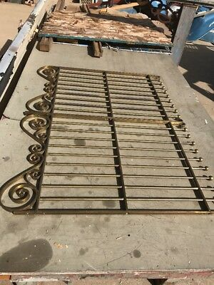 Antique Double Brass Bank Teller Gate 35.75 X 27