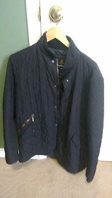Barbour mens black quilted jacket, size M