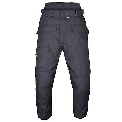 Men's Motorcycle Waterproof Over-Pants Full Side Zip with Removable CE Armor PT7