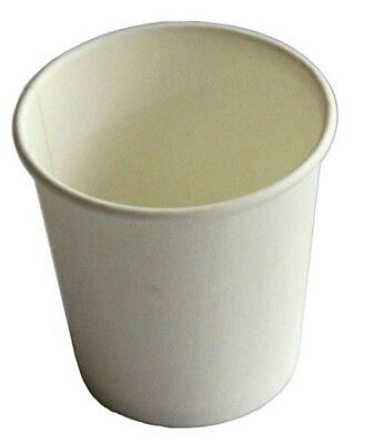 500 x 4oz White 118ml Single Wall Paper Coffee Cups Disposable Party Paper Cups