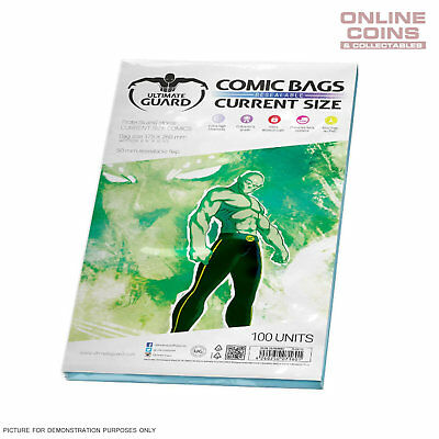 ULTIMATE GUARD Comic Series - CURRENT SIZE Resealable Comic Bags x 100