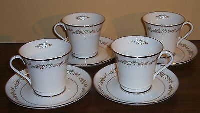 Lot Of 4 Gorham Rondelle Cups And Saucers
