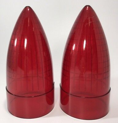 Pair (2) Red Tail Light Replacement Lens For 1959 Cadillac