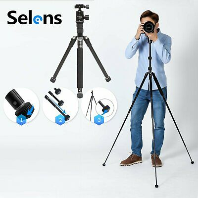 Selens T170 Portable Pro Aluminum Tripod Monopod&Ball Head Travel fr DSLR Camera