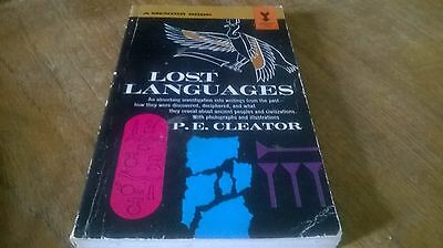 Lost Languages by P E Cleator (Paperback / softback)