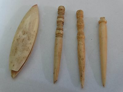 lot antique vintage needles bone rare needles (No.S4)
