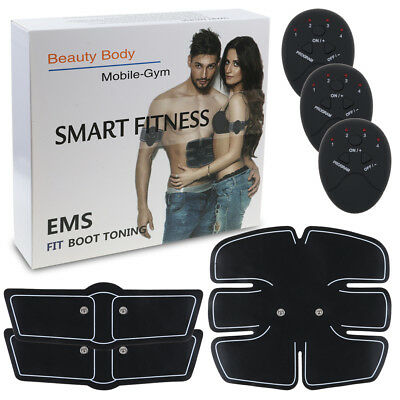EMS Muscle Training Gear ABS Trainer Fit Body Home Exercise Shape Fitness Pad AU