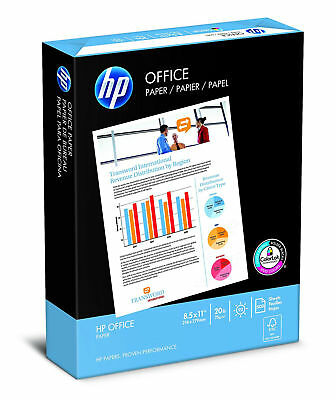 500 HP Printer Paper Sheets, Office Ultra White, 20lb, 8.5x11, Letter, 92 Bright