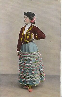 Fashion Postcard - Young Lady - Wearing Costume - Ref A7488