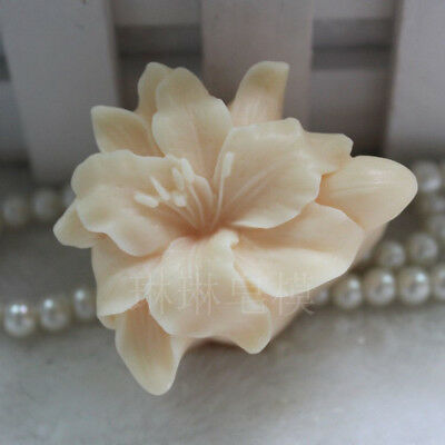 Lily Flower Soap Molds Silicone Flexible Handmade DIY Craft Candle Mould