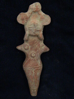 Ancient Large Size Teracotta Mother Goddess Indus Valley 600 BC #TR58