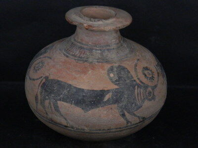 Ancient Large Size Teracotta Painted Pot With Bulls Indus Valley 2500 BC #IK480