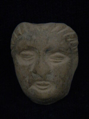 Ancient Teracotta Head Bactrian C.300 BC   #TR5834