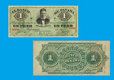 Panama COLOMBIA 1 Peso 1869. UNC - Reproductions