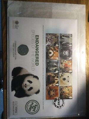 Endangered Species of the World Commemorative 50p Coin First Day Cover