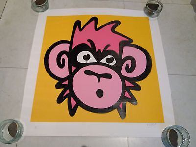 Mighty Mo Original Signed Screen Print Poster Numbered 50/50 Banksy Pow Graffiti
