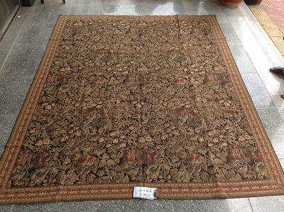 8' X 10' OLD ANTIQUE Vintage Collections Amazing Wool Needlepoint Carpet
