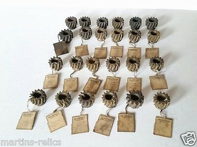 Lot Of 24 Antique Helical Screw Gears, Various Sizes ~ Vintage Bicycles?