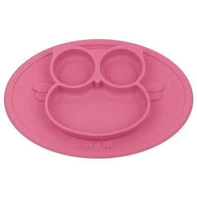 Kirecoo Babies Highchair Feeding Tray Round Silicone Suction Owl Placem... , New
