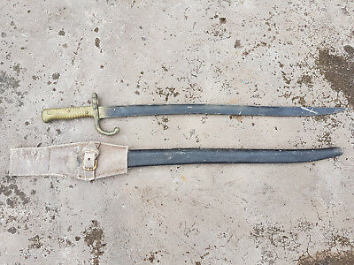 WW1 WW2 Movie Prop PLASTIC RUBBER French Chassepot Bayonet Sword Reenactment