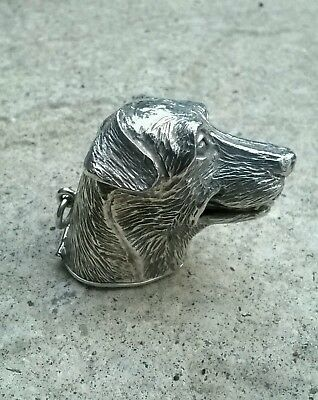 A Sterling Silver quality  dogs head  vesta/snuff box