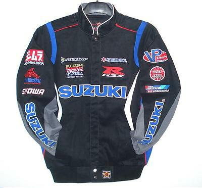 Size M Authentic Suzuki Gsx Embroidered Twill Cotton Jacket By Jh Md
